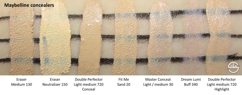 Maybelline Concealer Comparison   stash matters