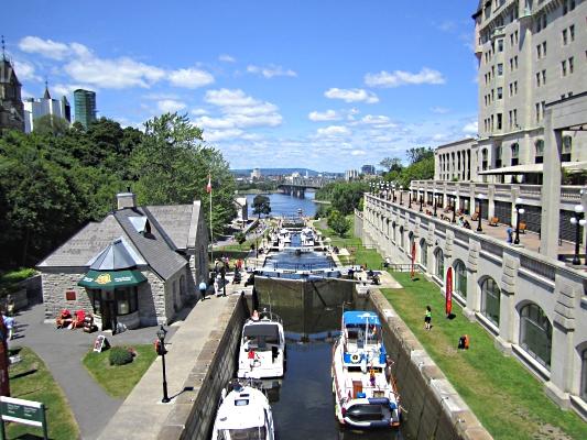 Rideau Canal lock, Ottawa