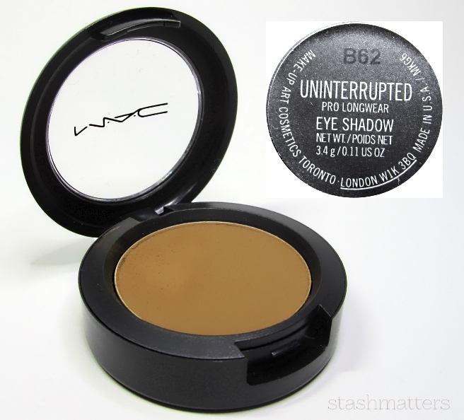 MAC Uninterrupted Pro Longwear eye shadow