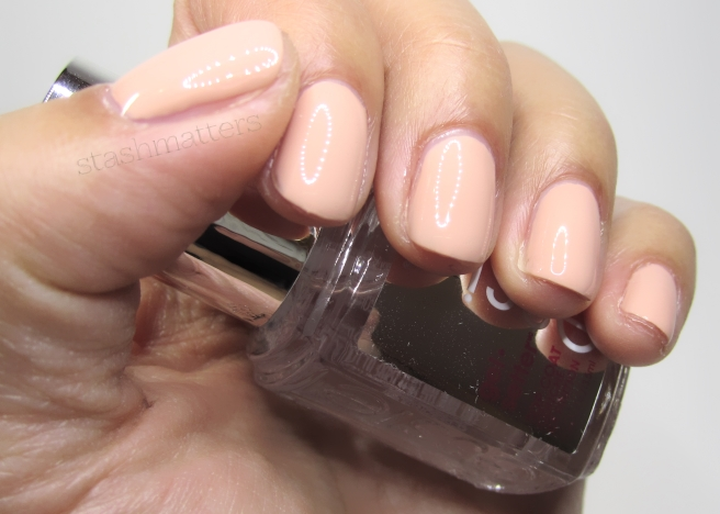 Essie Gel Setter over Perennial Chic