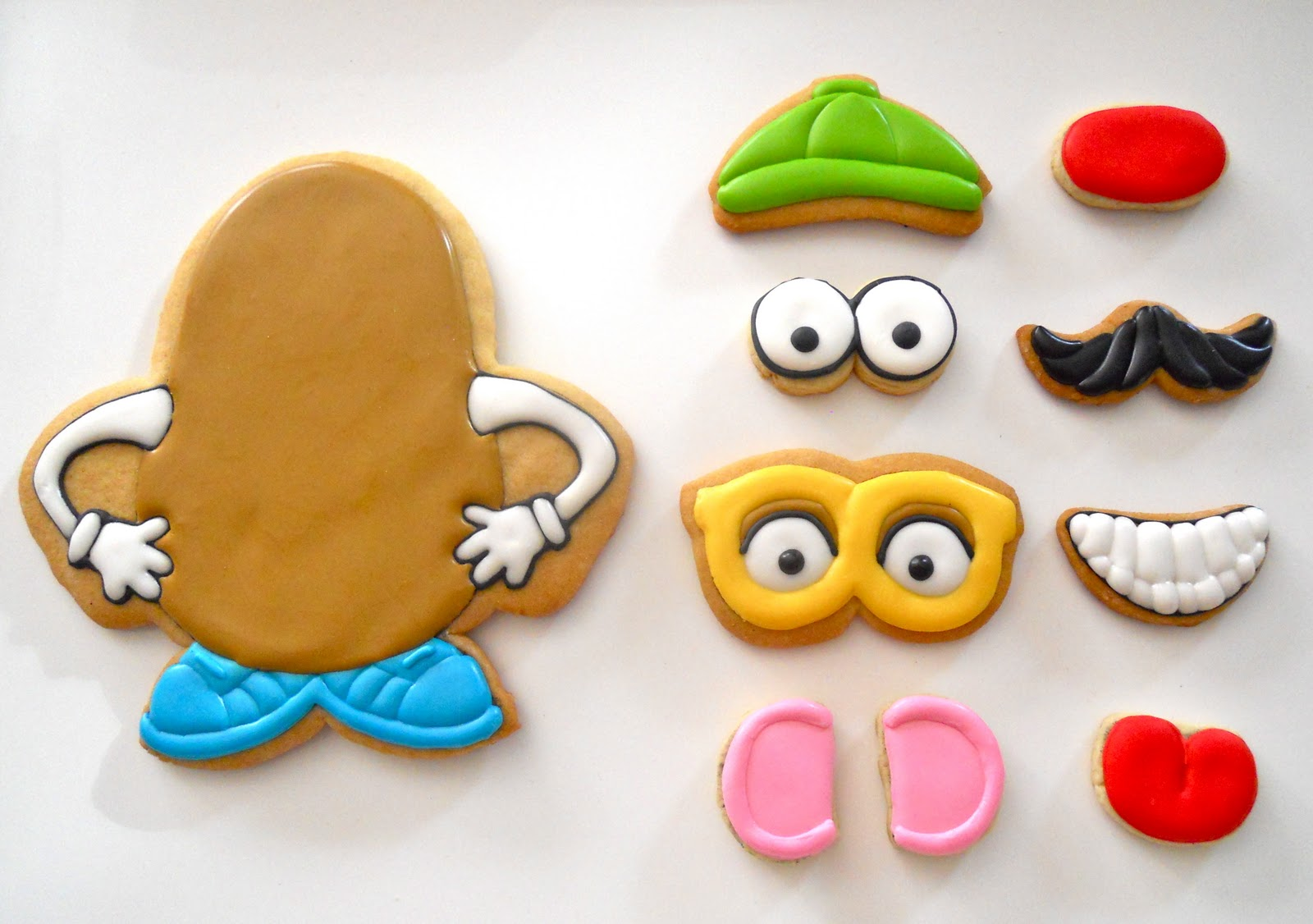 Mr. Potato Head sugar cookies