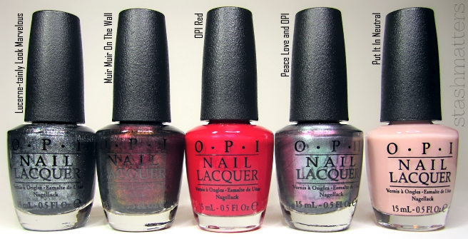 12 Muir On The Wall Fall 2013 San Francisco 13 OPI Red 14 Peace Love And 15 Put It In Neutral 2015 Soft Shades