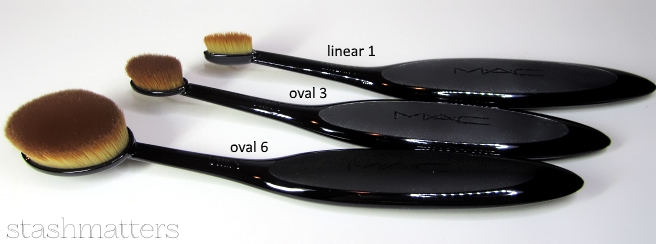 Oval makeup brushes mac