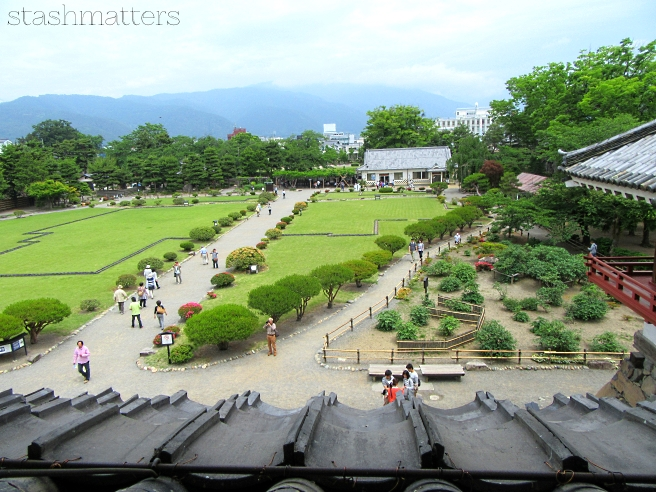 View from inside Matsumoto Castle
