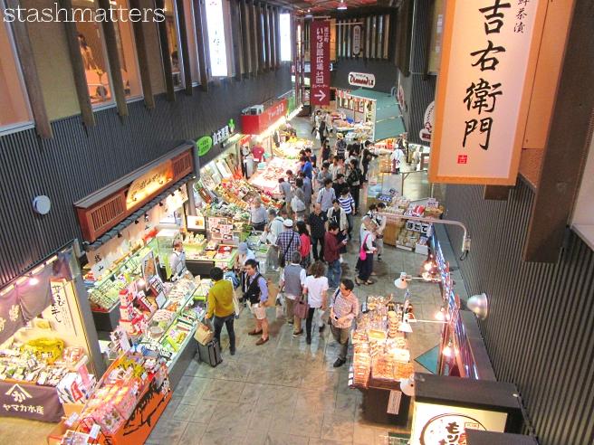 Omicho Market (fresh fish market) in Kanazawa