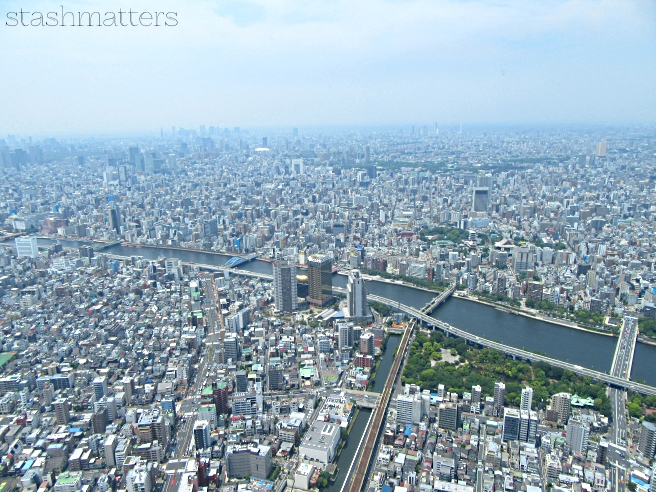 The view from on top of the Tokyo Skytree