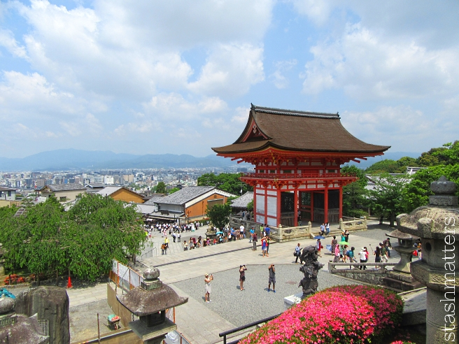 View from on top of Kiyomizu-dera Temple
