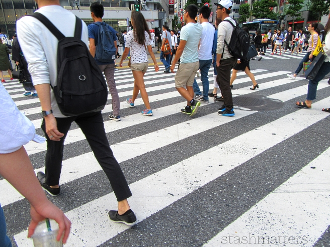 The famous Shibuya crosswalk