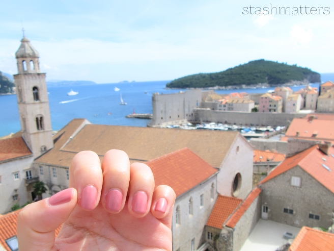 Hey, this is still primarily a beauty blog! I rocked the Essie Gel Couture polish in Pinned Up for the trip - it wore amazingly well. Not a chip and I wore it for 12 days in total.