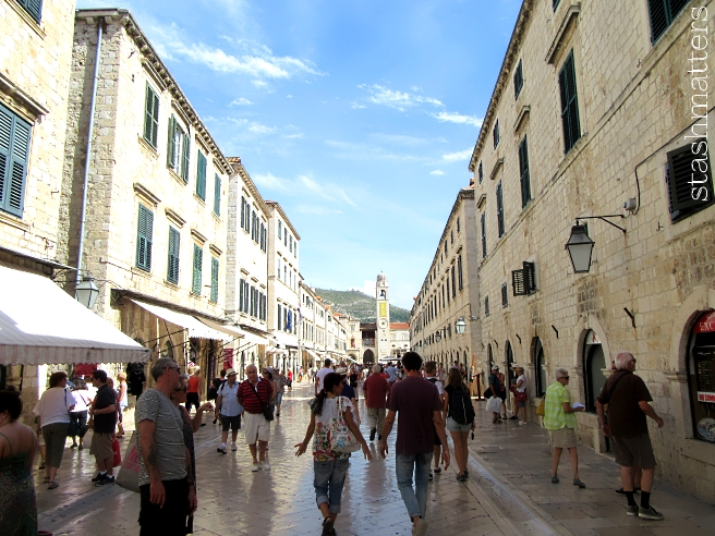 Inside the Walled City - we are so amazed at the polished stone ground, they're reflective and probably slick when it rains.