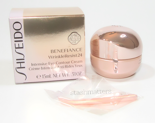 I like how Shiseido has a safety seal on their skincare, and they provide a little scoop.