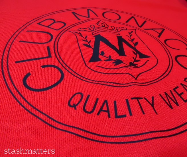 Club Monaco Throwback Logo Sweatshirt in red