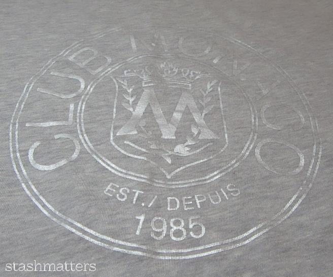 Club Monaco Throwback Logo Tee in grey