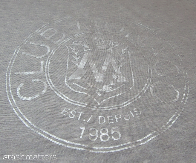 Club Monaco Throwback Logo Tee in grey