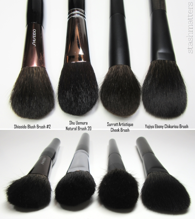 These Are All Anese Brands And Made Brushes The Surratt Has A Domed Profile Whereas Rest
